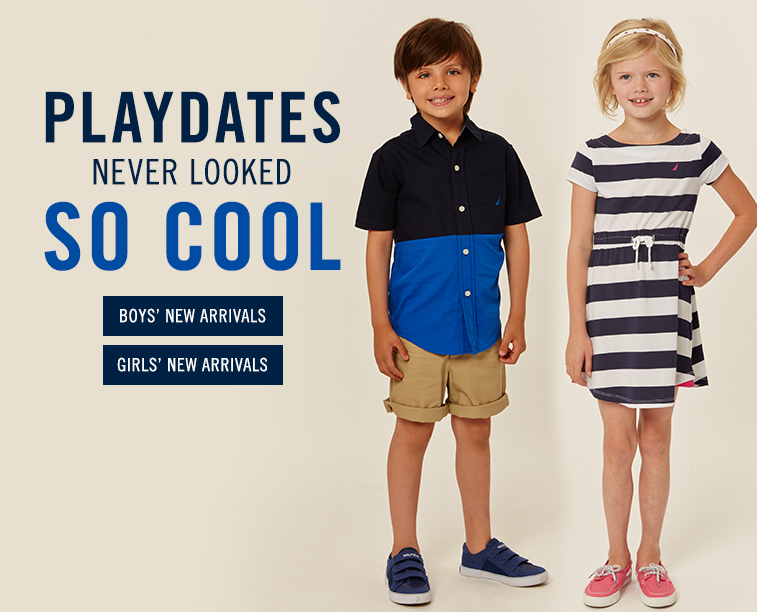Play Dates Never Looked So Cool.  Boys and Girls New Arrivals.