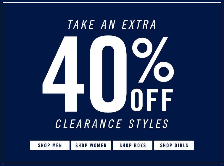40% Clearance Styles