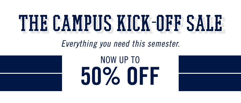 The Campus Kick-Off Sale
