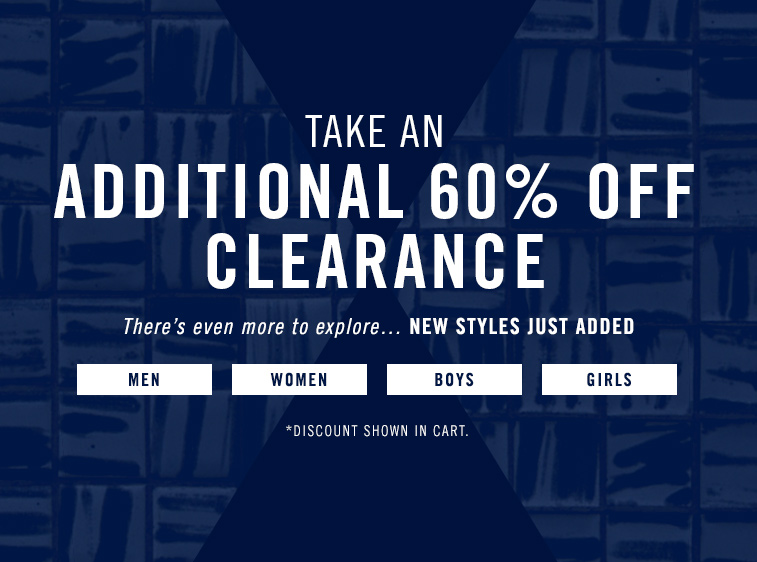 60% Clearance Styles