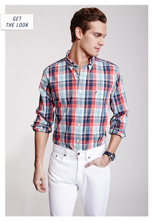 Slim Flit Plaid Shirt - Get The Look