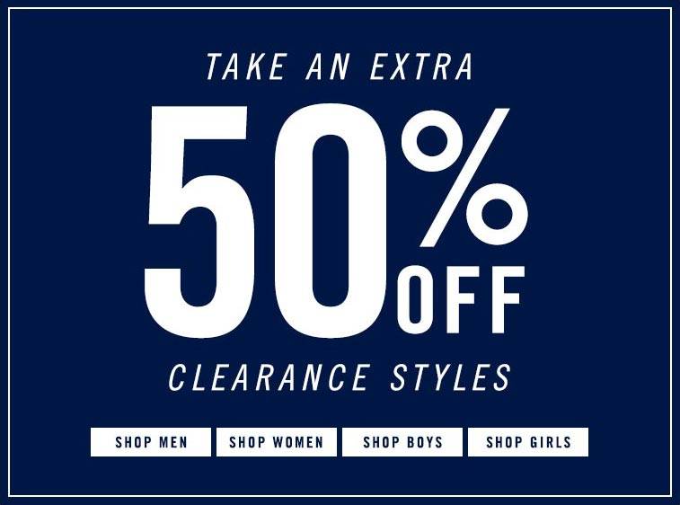 50% Clearance Styles