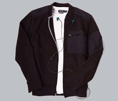 MIX MEDIA FULL ZIP BASEBALL JACKET