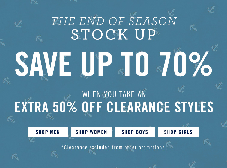 70% off Clearance Styles