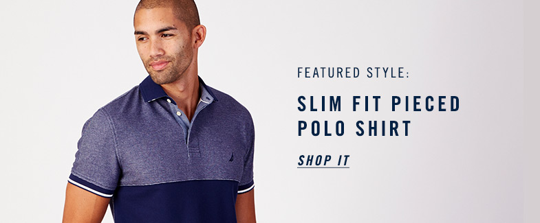 Slim Fit Pieced Polo Shirt