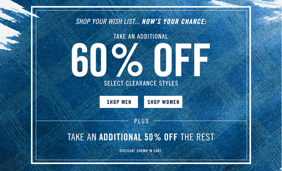 Stars and Stripes sale. 50% off