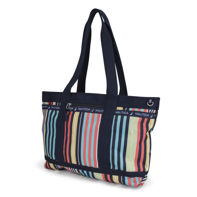 Captain's Quarters Stripe Medium Tote,Multi,large