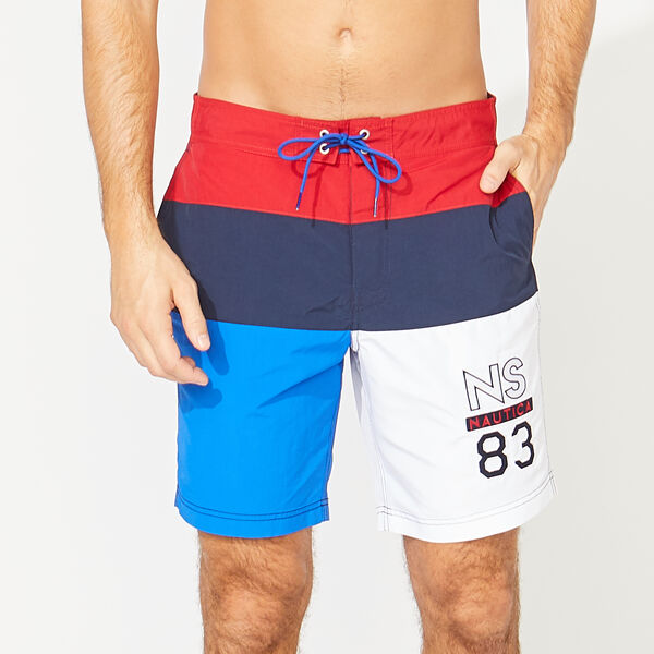 "8"" NS-83 COLORBLOCK SWIM QUICK-DRY SWIM - Nautica Red"