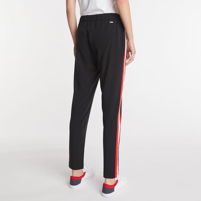 STRIPE SIDE PULL ON PANTS ,True Black,large