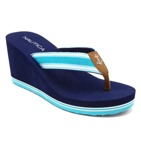 Aster Wedge Sandals - Turquoise