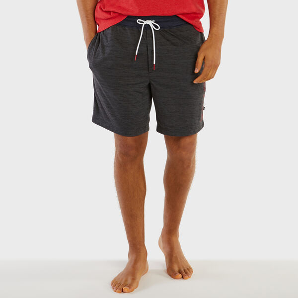 Logo Space-Dye Lounge Shorts - Charcoal Hthr