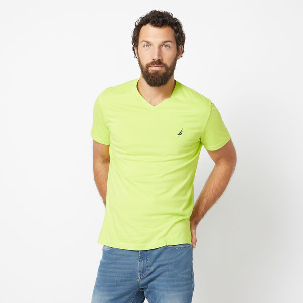 SOLID V-NECK T-SHIRT - Tropic Lime