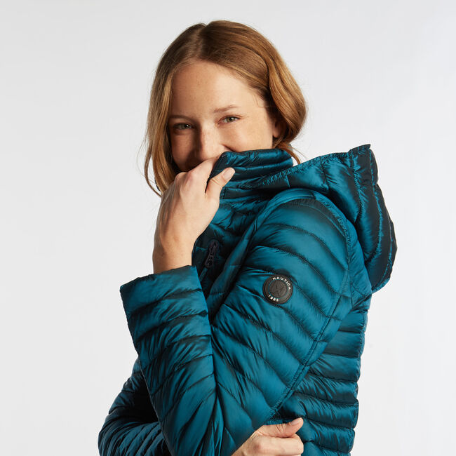 WOMEN'S QUILTED PACKABLE COAT,Biscay Teal,large