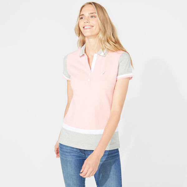 CLASSIC FIT COLORBLOCK POLO - Prism Pink