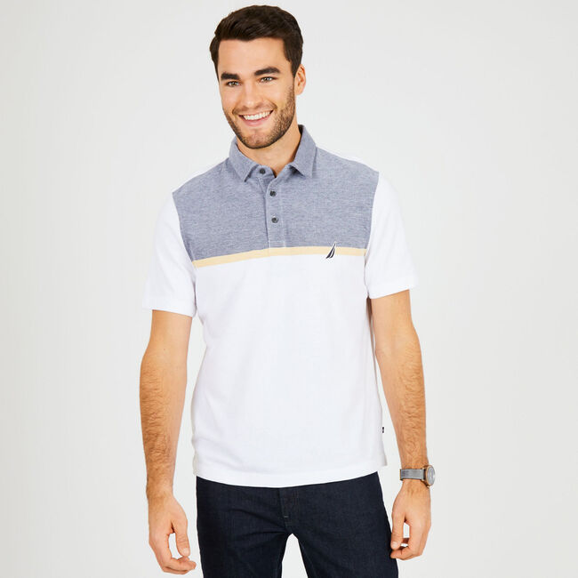 Classic Fit Jersey Palm Springs Polo,Bright White,large