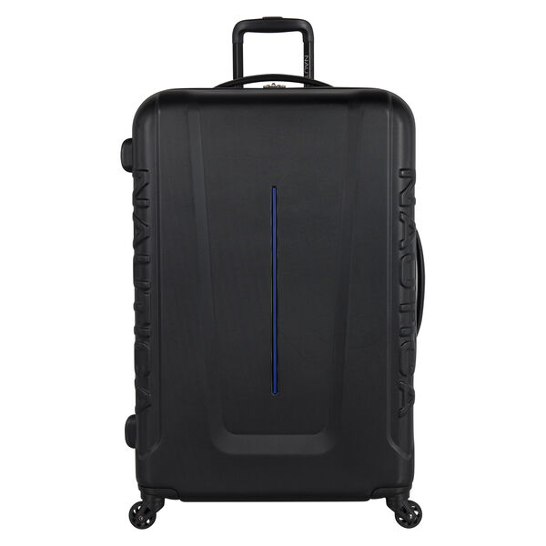 Vernon Bay Hardside Spinner Luggage in Black/Cobalt - True Black