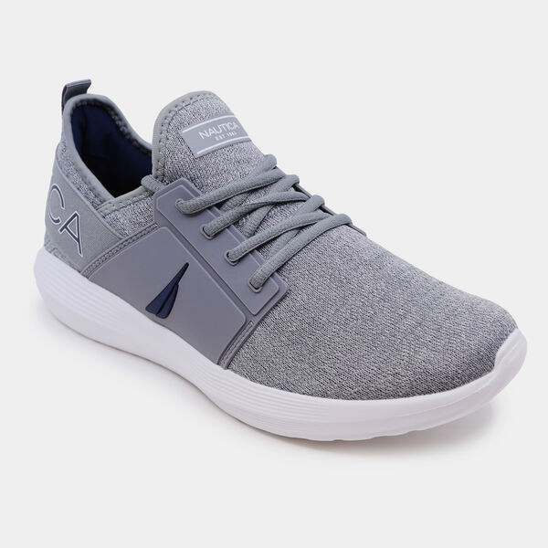 LOGO KNIT SNEAKER - Grey Heather