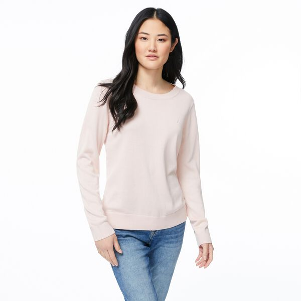 CLASSIC FIT CREW NECK SWEATER - New Pink