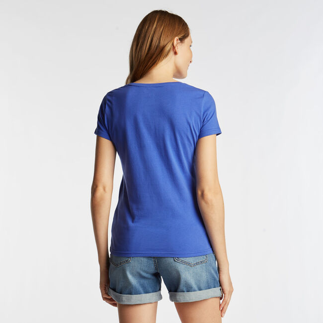CLASSIC FIT T-SHIRT IN LOGO GRAPHIC,Cobalt Wave,large