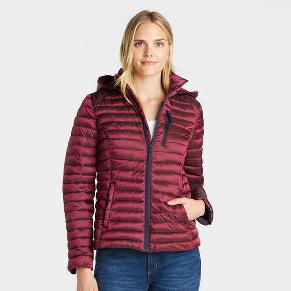 WOMEN'S QUILTED PACKABLE COAT - Seaside Red