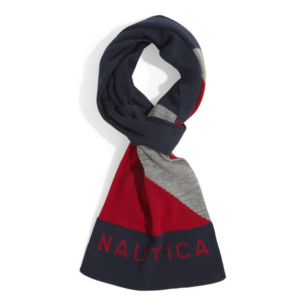 KNIT NAUTICAL LOGO SCARF - Nautica Red