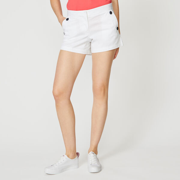 "4"" STRETCH TWILL SAILOR SHORTS - Bright White"
