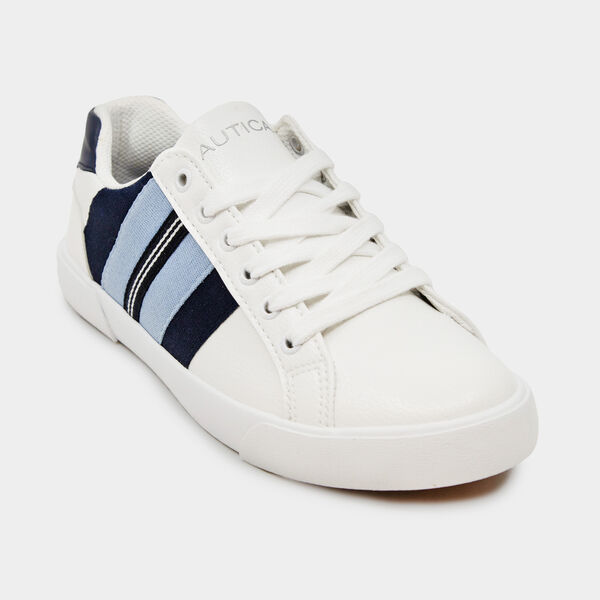 SARIAH MULTICOLOR STRIPE SNEAKERS - Navy