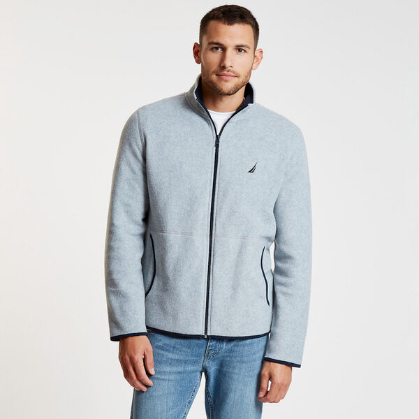 Nautex Full-Zip Fleece - Grey Heather