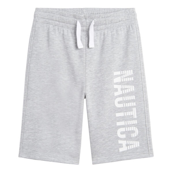 BOYS' LOGO FLEECE SHORT (8-20) - Grey Heather