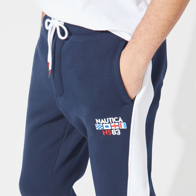 COLORBLOCK TRACK PANTS,Navy,large