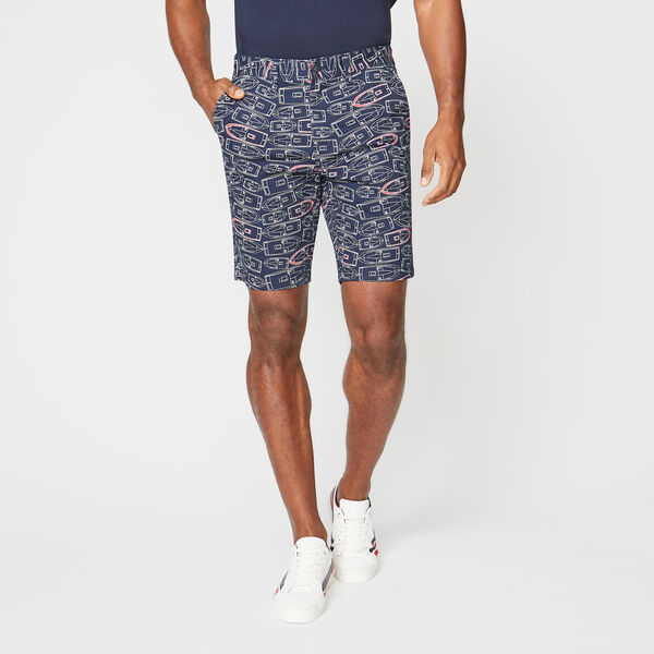 "9.5"" SLIM FIT SPEEDBOAT PRINT SHORT - Navy"