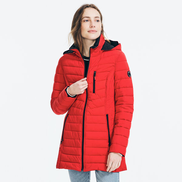LIGHTWEIGHT QUILTED COAT - Tomales Red
