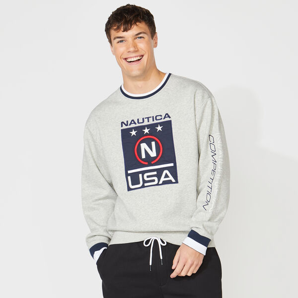NAUTICA COMPETITION GRAPHIC SWEATSHIRT - Grey Heather