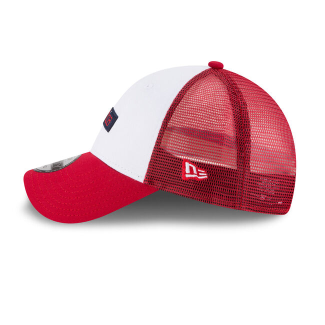 Hydro Mesh Panel Colorblock Baseball Cap,Nautica Red,large