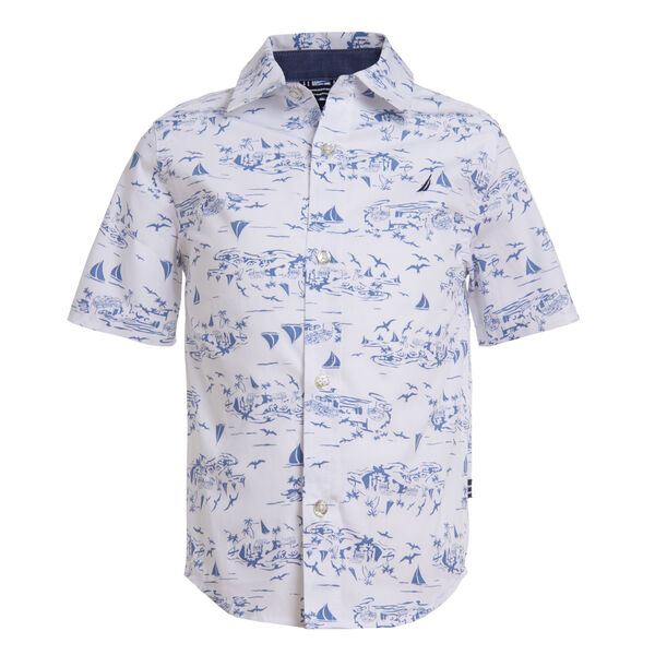 BOYS' SAILBOAT PRINTED SHIRT (8-20) - Antique White Wash