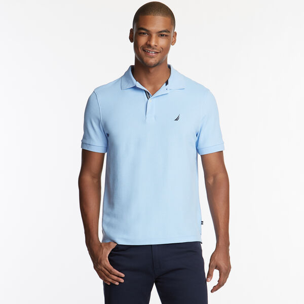 CLASSIC FIT PERFORMANCE DECK POLO - Azure Blue