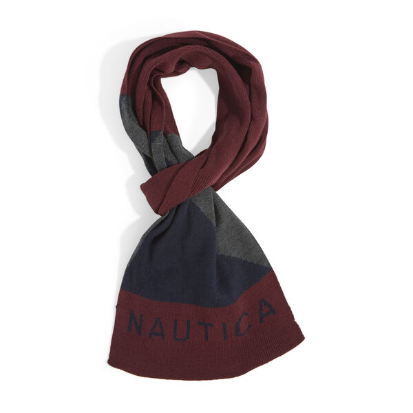 KNIT NAUTICAL LOGO SCARF - Rio Red