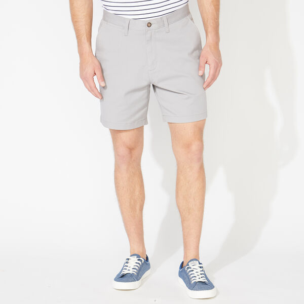 "6"" CLASSIC FIT DECK SHORTS WITH STRETCH - Grey Alloy"