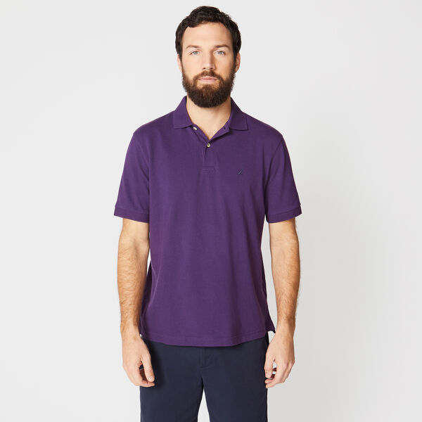 CLASSIC FIT DECK POLO - Blackberry
