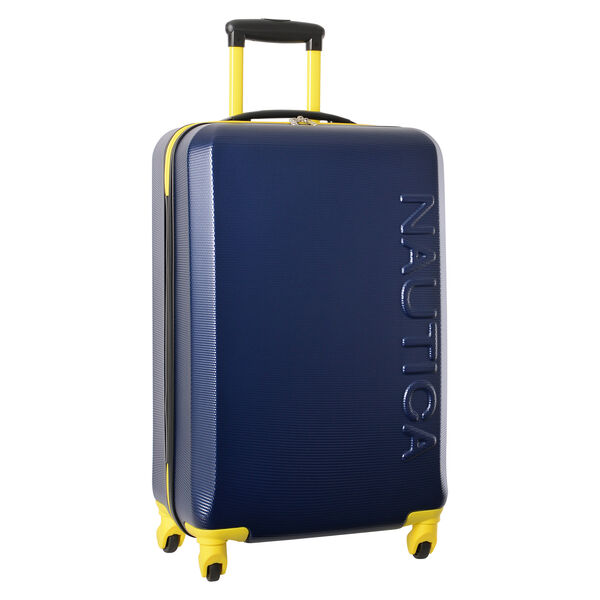 "Marina 25"" Hardside Spinner Luggage in Navy/Yellow - Navy"