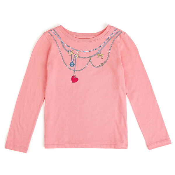 Toddler Girls' Necklace Graphic Long Sleeve Tee (2T-4T) - Tabasco