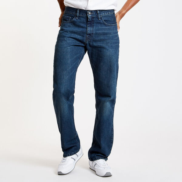 Smokey Indigo Wash Relaxed Fit Jeans - Smokey Indigo Wash