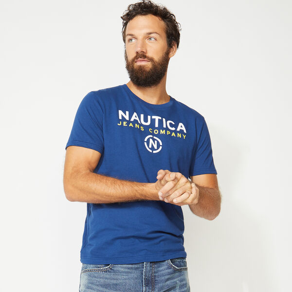 NAUTICA JEANS CO. LOGO TEE - Estate Blue