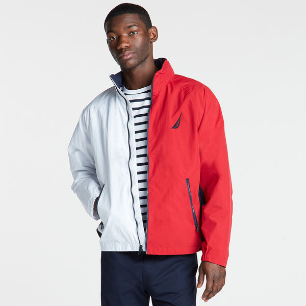 Colorblock Lightweight Jacket - Bright White