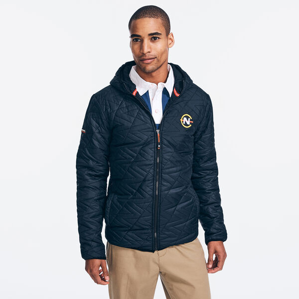 COMPETITION QUILTED LOGO JACKET - True Black