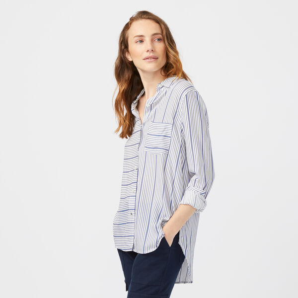 STRIPE WEEKEND SHIRT - Bright White