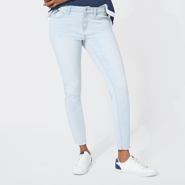 NAUTICA JEANS CO. DISTRESSED MID RISE SKINNY DENIM - Naval Blue