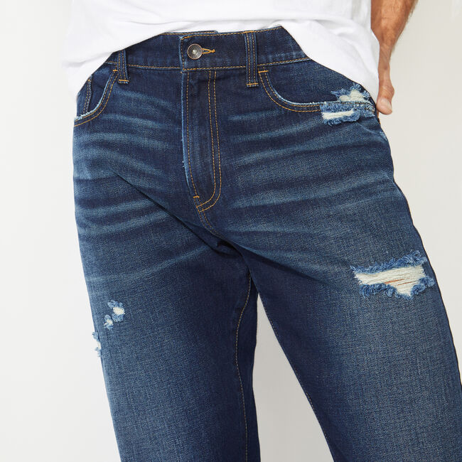 NAUTICA JEANS CO. ORIGINAL RELAXED FIT DENIM IN HATCH BLUE,Crest Blue,large