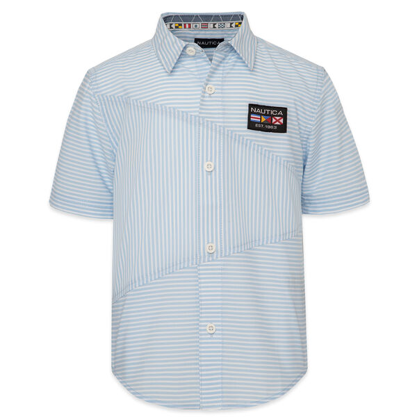 BOYS' STRIPED PIECED SHIRT (8-20) - Aquasplash