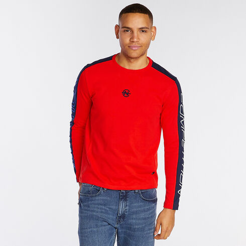 Competition Long Sleeve Crewneck T-Shirt - Firey Red